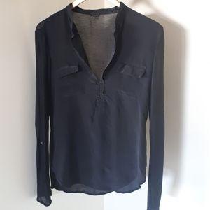 Aritzia Babaton Silk blend T- Shirt Blouse